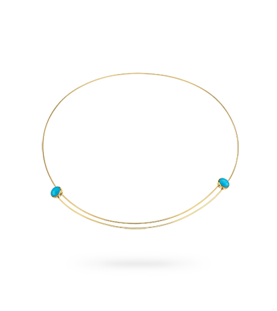 NECKLACE 14K GOLD, TURQUOISE